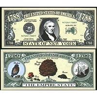 Set of 10 Bills-1788 New York State Bill by Novelties Wholesale [並行輸入品]