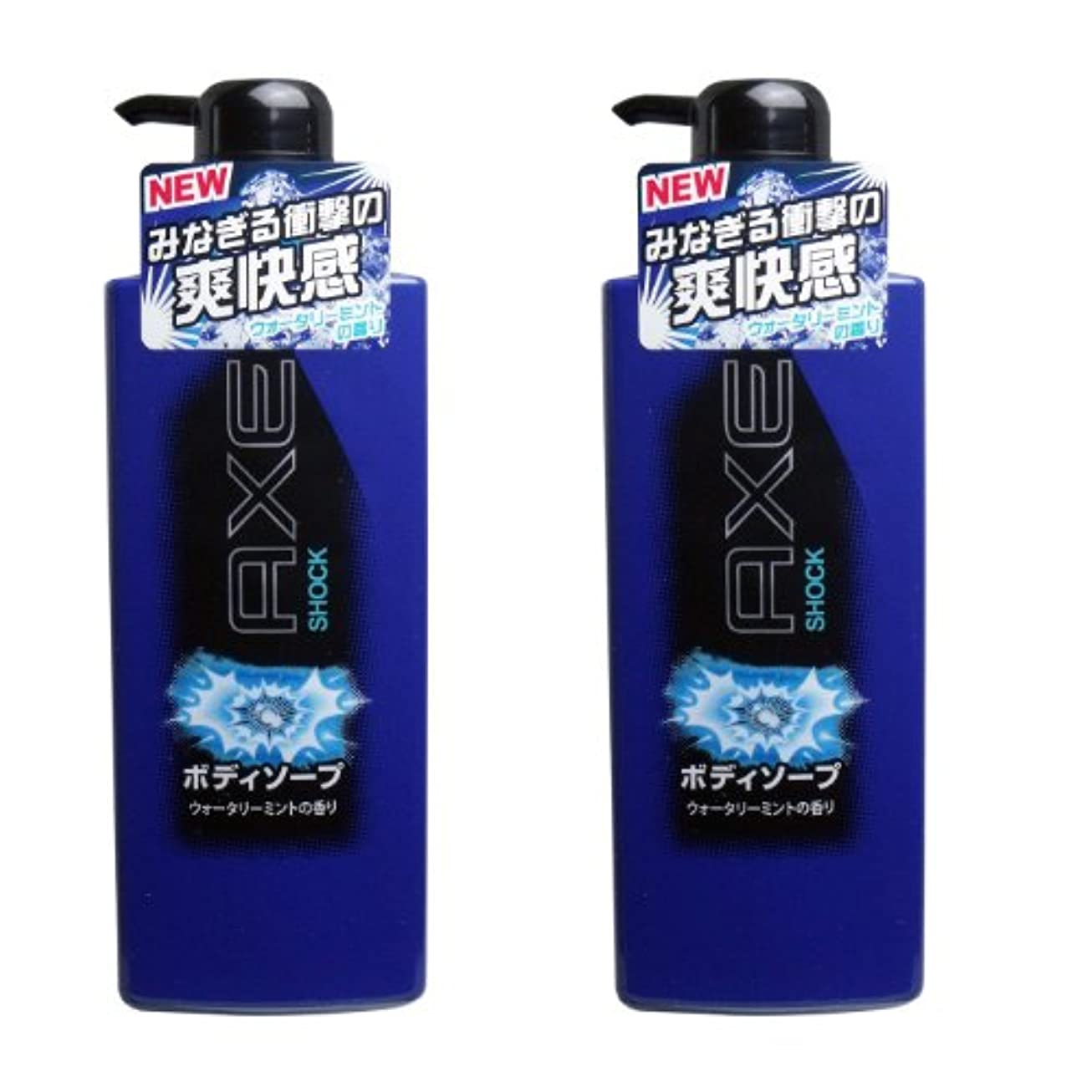 奇跡冷淡な疑わしいAXE(アックス) ボディソープの2点セット (ショック ウォータリーミントの香り)