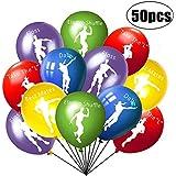 50ピース ダンス ゲーム 誕生日パーティー バルーン - ビデオゲーム パーティー用品 デコレーション バルーン ゲーム パーティー サプライ バルーン デコレーション - ゲーマー/ダンサーテーマ/誕生日パーティー 記念品 子供用