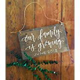 Baby Reveal Wood Sign Baby Announcement Pregnancy Announcement Our Family is Growing Growing Family Family Number New Baby Born