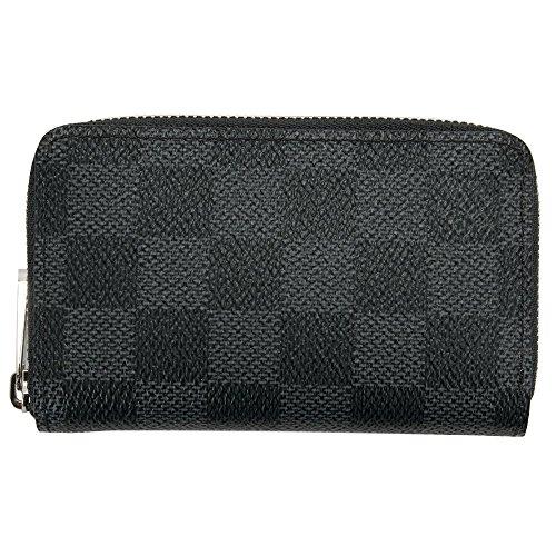 [セット品]正規化粧箱&正規紙袋付き ルイヴィトン LOUIS VUITTON 財布 小銭入れ メンズ レディース ジッピー・コイン パース ダミエ・グラフィット N63076 ミニ財布