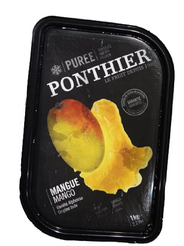 冷凍 マンゴー ピューレ フランス産 PONTHIER 1kg 【冷凍以外同梱不可】
