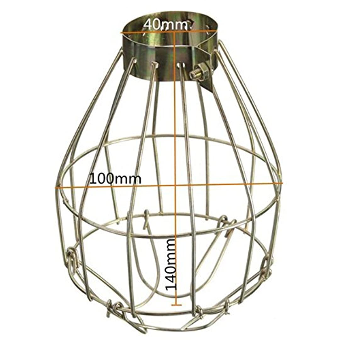 剪断謝るキャプテンZehui Hanging Industrial Lamp Covers Pendant Decor for Home Bar Metal Lamp Bulb Guard Clamp Vintage Light Cage