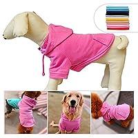 ファッションペットコートコットン基本的な犬のパーカー、犬の服小さな子犬のための子犬のベストの冬のコートコートジャケット、選択のための11のサイズと11の色 Rosered XS