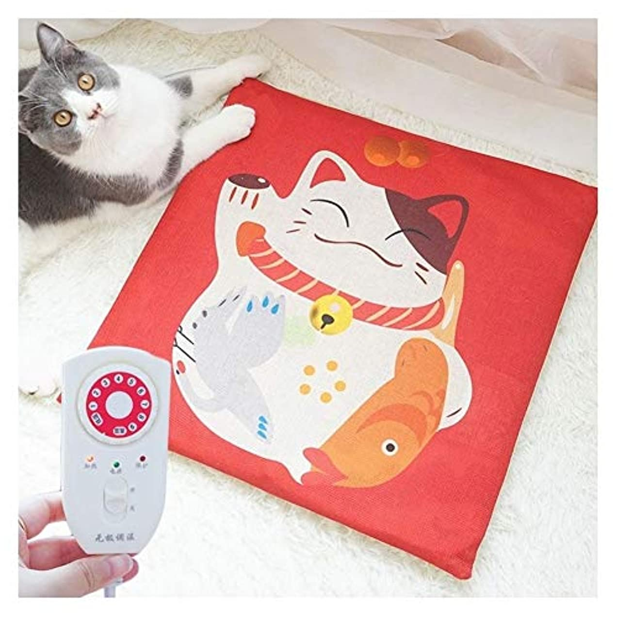 一般的に千爪HZHIYU01 ラッキーキャットペット暖房パッド、防水&取り外し可能な洗えるカバー恒温暖房電気ホット毛布ペット犬/ペット猫、暖房パッド用猫の巣/ケンネル (Color : Lucky Cat)