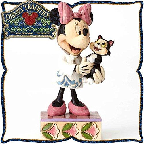 디즈니・tradition 『Veterinarian Minnie』 수의사의 미니 마우스 레진제 목각조 피규어