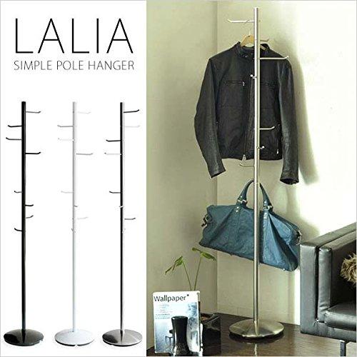 省スペース ポールハンガー LALIA【ラリア】 シルバー (ハンガーラック コートハンガー) AR-P017