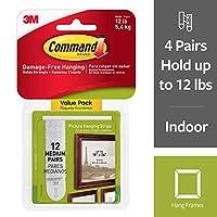 Command 17204-12ES 07248000796 CMND PIC ハングストリップVP12組 ホワイト写真 (再生品)