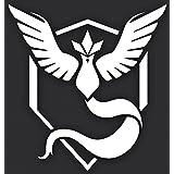 """pokem0NブルーチームMysticビニールステッカーデカール 4""""x 4"""" ホワイト T&T DECALS"""