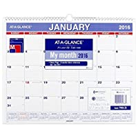 at a glance monthly wall calendar 2016 12 months 14 7 8 x 11 7 8