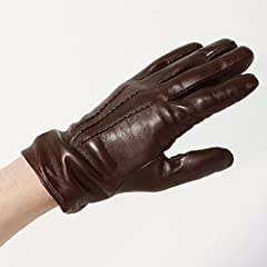 Goat Nappa Gloves (Ships) 118-73-0139: Brown