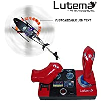 Lutema 2.4GHz Heligram Flight Simulator Remote Control Helicopter with LED SkyText Technology, Red [並行輸入品]