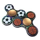 指スピナー-サッカーやバスケットボールのスタイルジャイロを指先 - チタン合金 指先おもちゃ高速耐久性スピン -リラックスしてストレス解 消