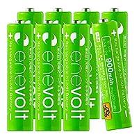 Enevolt 単4 充電池 900mAh 大容量 充電式電池 ニッケル水素電池 (繰り返し約1000回使用可能) - 単4形 8本