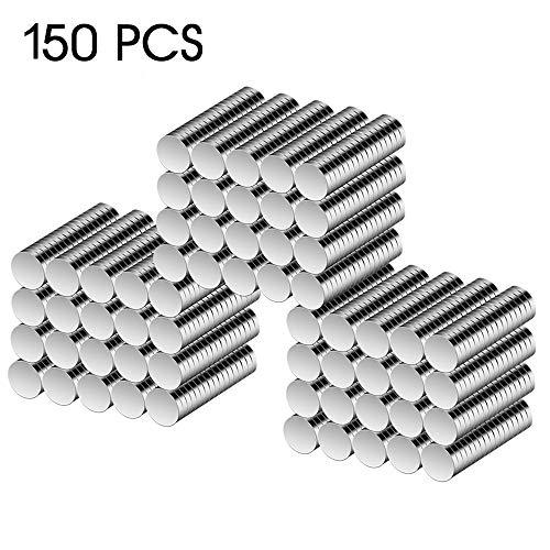 超強力 ホワイトボード Cosego 強力 磁石 丸形 マグネット 直径 5 X 1mm 地図/ホワイトボード/冷蔵庫/学校用品/事務所 150個入