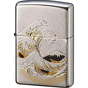 ZIPPO ライター 電鋳板 波富士 シルバーの関連商品5