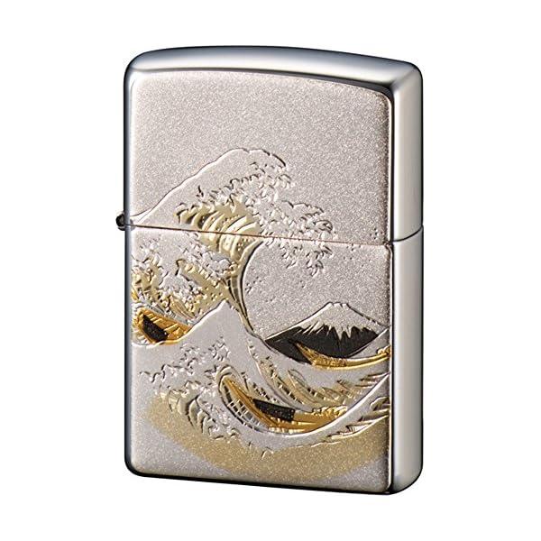 ZIPPO ライター 電鋳板 波富士 シルバーの商品画像