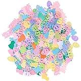Amosfun イースターのウサギひよこ卵形紙吹雪ハッピーイースターの装飾ぶら下げ飾りパーティーの装飾2パック
