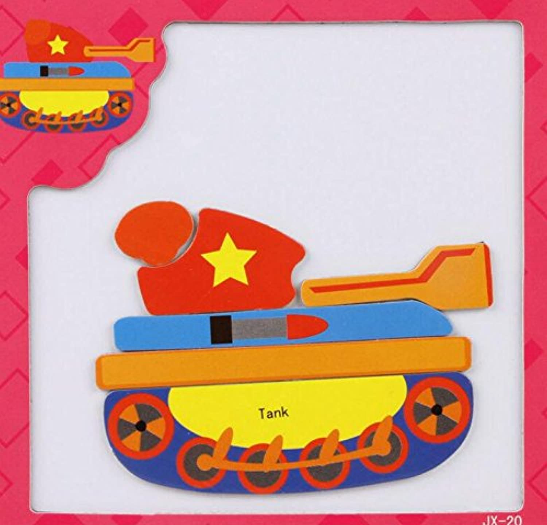 HuaQingPiJu-JP 創造的な教育的な磁気パズルアーリーラーニング番号形状色の動物のおもちゃキッズ(タンク)のための素晴らしいギフト