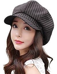(シッギ) Siggi 春用帽子 サイズ調節可 小顔効果 折りたため UVカット かわいいキャスケット レディース 57cm-59cm