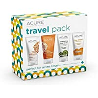 ACURE Essentials Travel Size Kit Shampoo Conditioner Day Cream and Facial Scrub [並行輸入品]