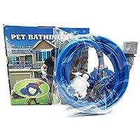 ペット犬風呂ブラシペットクリーニングシリコーン風呂手袋ウォータースプレーペットマッサージャー犬風呂アートシャワーヘッド付きマッサージ手袋屋外シャワー流域