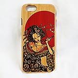 ケース iPhone6 (4.7inch) 竹製キセルの花魁