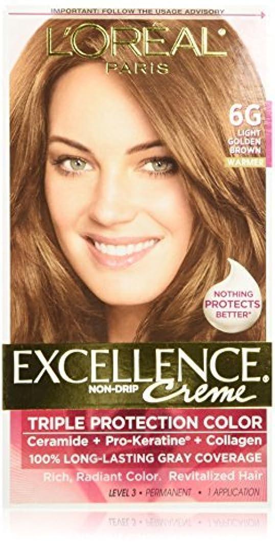 透ける荒野不和L'Oreal Excellence Triple Protection Color Cr?Eze Haircolor, 6G Light Golden Brown by L'Oreal Paris Hair Color...