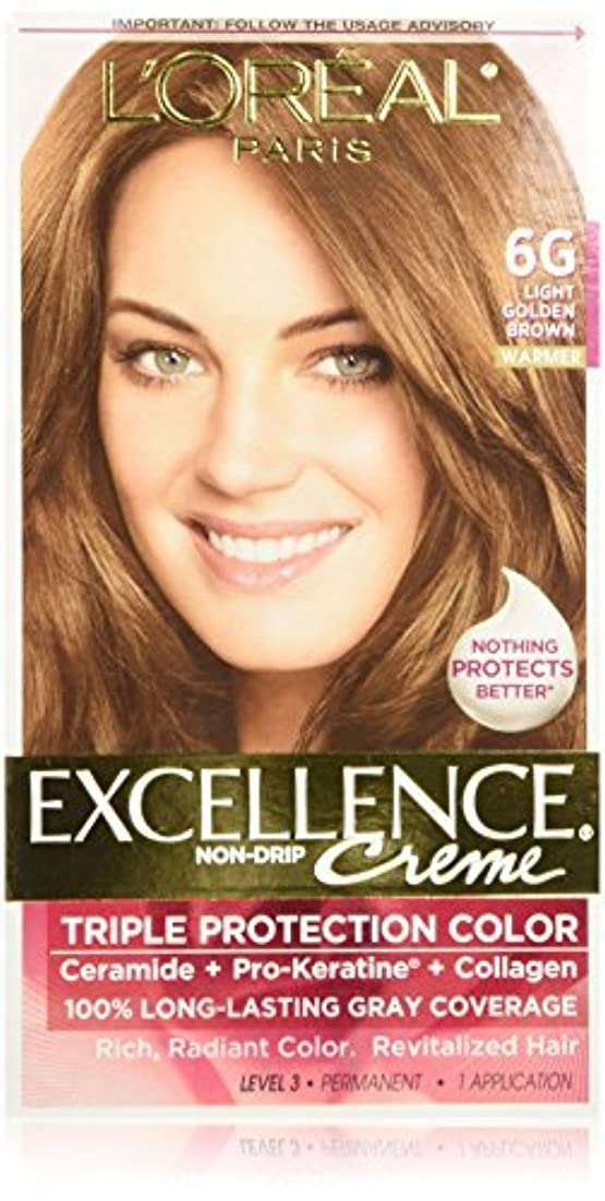闘争ベルライブL'Oreal Excellence Triple Protection Color Cr?Eze Haircolor, 6G Light Golden Brown by L'Oreal Paris Hair Color...