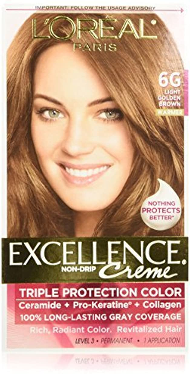 シネウィパターンライターL'Oreal Excellence Triple Protection Color Cr?Eze Haircolor, 6G Light Golden Brown by L'Oreal Paris Hair Color...