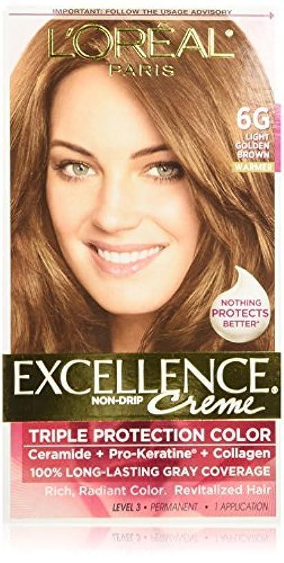 トレーニング平行疑いL'Oreal Excellence Triple Protection Color Cr?Eze Haircolor, 6G Light Golden Brown by L'Oreal Paris Hair Color...