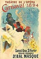 Theatre de l 'opera–Carnaval 1894–3e Bal masqueposter (アーティスト: Cheret , Jules )フランスC。1894 24 x 36 Signed Art Print LANT-65476-710
