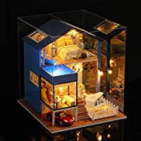 Kisoy Domantic and Cute Dollhouse Miniature DIY House Kit Creative Room Perfect DIY Gift for Friends,Lovers and Families(Seattle Night)