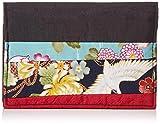 [祐馬工芸] 6Pカード・保険証入れ かさね・がさねシリーズ 日本製 古布調綿・無地ポリエステル 黒
