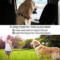 Liebeye 犬のリーシュ 小さな中型犬のため 柔軟な調節可能なペットリーシュストラップ 多機能引き込み式トラクションロープ ブラック
