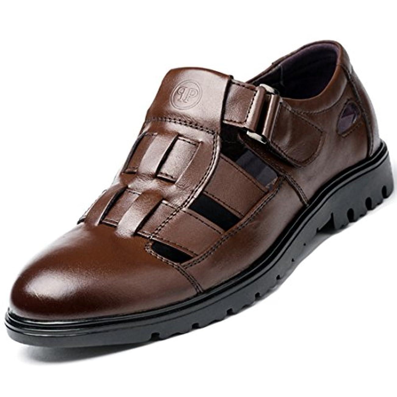将来の裂け目焦げONE MAX カジュアルシューズ メンズ ウォーキング 本革 オフィス ビジネスサンダル ドライバーシューズ ベルクロ 軽量 夏 通気性 紳士靴