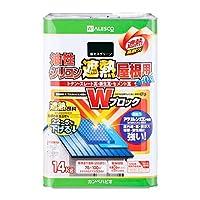 カンペハピオ 油性シリコン遮熱屋根用 新モスグリーン 14kg
