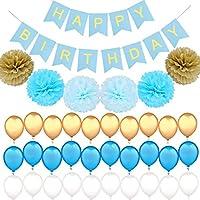 誕生日 飾り付け バルーン 大容量 特大 バースデー バルーン 装飾セット 誕生日お祝い パーティー 結婚式 ブルー
