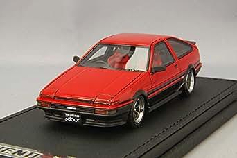イグニッションモデル 1/43 トヨタ スプリンタートレノ 3Dr GT Apex (AE86) レッド/ブラック IG0486