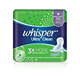 Whisper Ultra Clean Heavy Flow Day/Night Wings Sanitary Pads, 14ct
