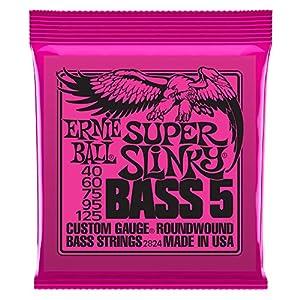 【正規品】 ERNIE BALL ベース弦 5弦 スーパー (40-125) 2824 Super Slinky Bass 5