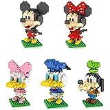 LNO 5boxダイヤモンドブロックミッキーマウスドナルドダックミッキーミニーグーフィーおもちゃ1190pcs親子ゲームビルディングブロック子供の教育おもちゃ