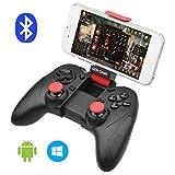 ALLCACA ゲームパッド  Bluetooth ゲームコントローラー ワイヤレス Android Windows スマホ/タブレット端末対応 無線 振動 ブラック