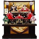 雛人形 五人揃三段飾り 【慶祝】セット 30号(5人)[幅90cm] 溜塗[sb-2-30] 雛祭り