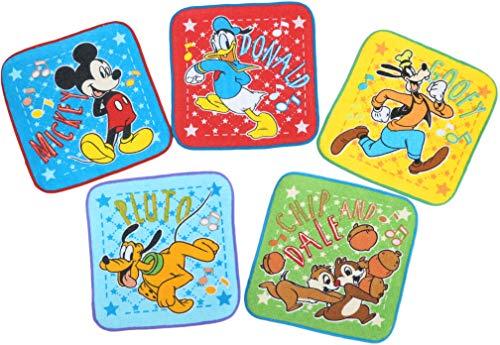 ミニタオル 5枚組 ディズニー 15×15cm ハンサムボーイズ 異なる5柄セット 2075067800 5個セット