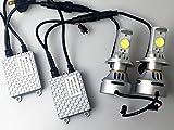 LED ヘッドライト H4 HI/LO 6500K ホワイト 6400ルーメン CREEチップ 両面 LEDバルブ 2本セット