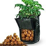 Firlar 2枚 ジャガイモ 植え袋 7ガロン 園芸 防水バック 植物育成 野菜栽培 ガーデン用 通気性が良い エコPE (グリーン)