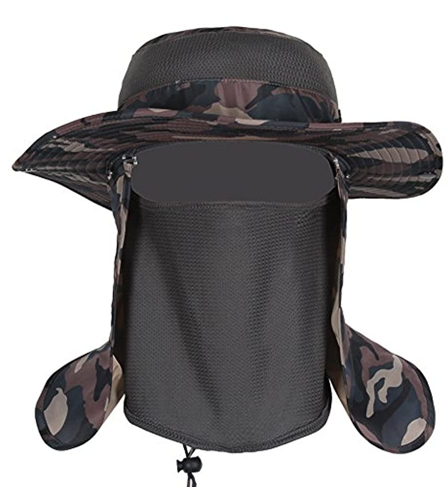 娘熟す瞑想するクイック乾燥kedera釣り帽子太陽帽子360 ° UV保護調整キャップメンズレディースハイキング釣り屋外の庭庭作業