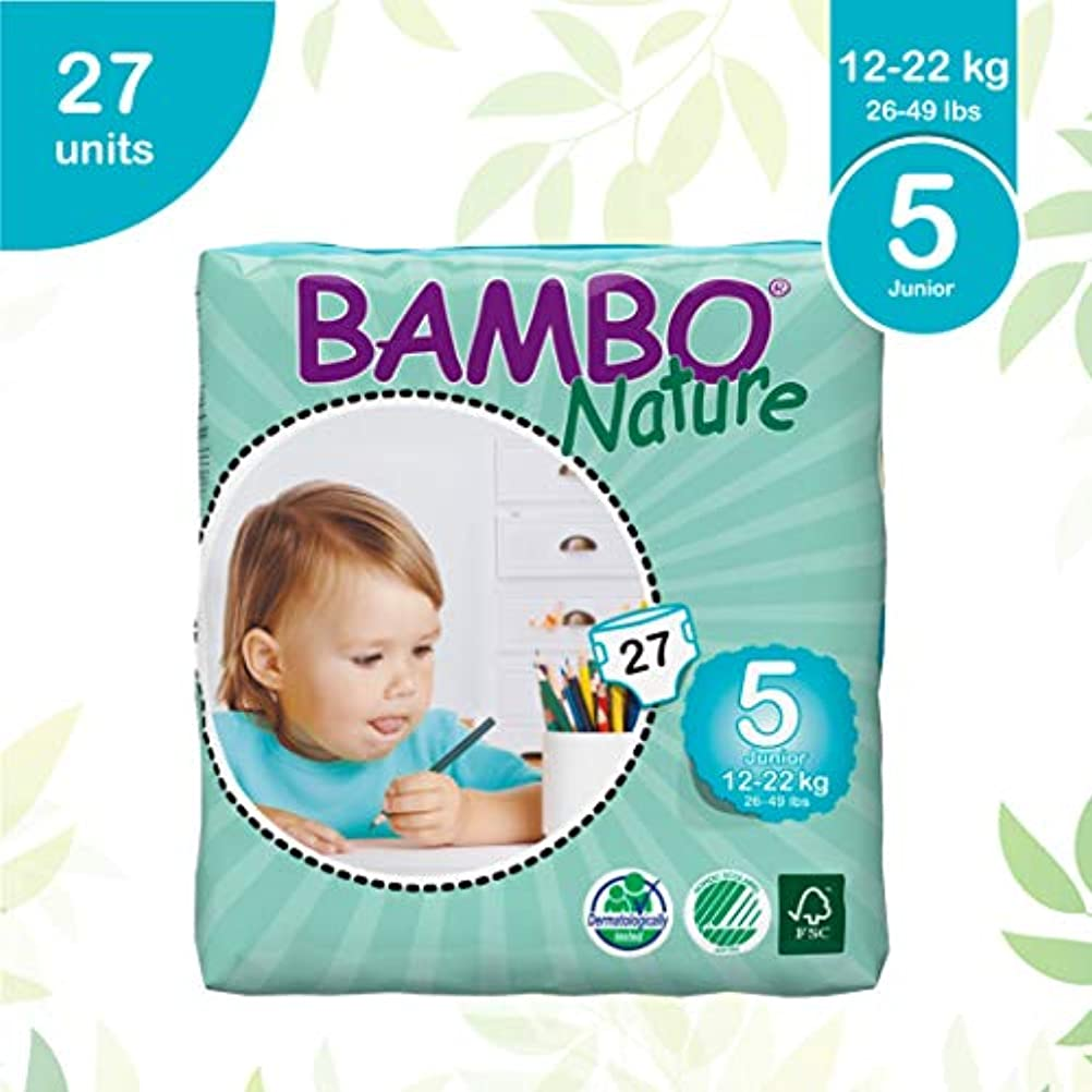 Bambo Nature Junior (27 nappies) 26-49lbs, 12-22kg (Size 5)