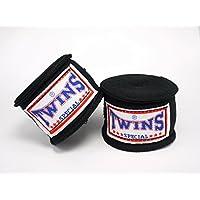 TWINS(ツインズ) バンテージ ブラック 伸縮タイプ 2個1セット ムエイタイ ボクシング MMA 格闘技 グローブ